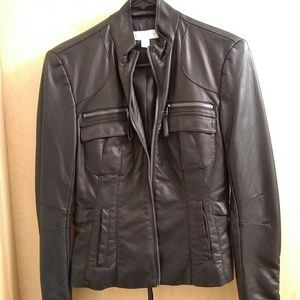 Black New York Co Jacket Faux Leather XS